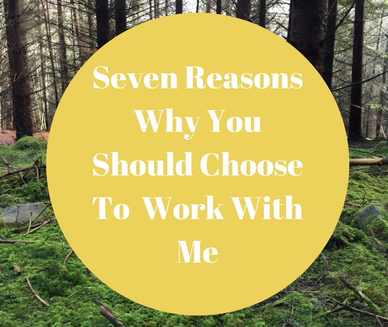 Seven Reasons You Should Choose To Work With Me